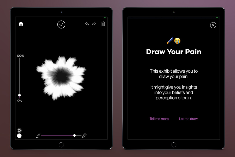 Draw Your Pain iOS app at MOD.